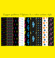 zipper patterns 9 options vector image