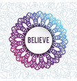 decorative arabic round lace ornate mandala vector image