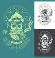 sea dog monochrome emblem vector image