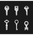 Door key set eps 10 vector image