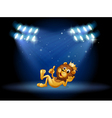A king lion at the center of the stage vector image vector image