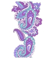Abstract seamless paisley border vector image