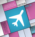 airplane icon sign Modern flat style for your vector image