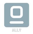 ally conceptual graphic icon vector image vector image