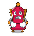 angry king throne mascot cartoon