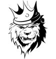 angry lion king with shadow vector image vector image