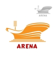 Architectural icon of a modern stadium vector image vector image