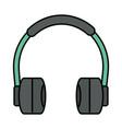 audio earphones technology gadget icon vector image vector image