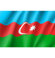 azerbaijan national flag realistic vector image vector image