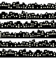 Background with black doodle houses vector image vector image
