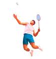 badminton player polygonal geometric athelete