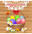 basket easter3 vector image vector image