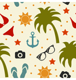 Beach seamless texture summer background season vector image vector image