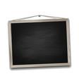 black chalkboard in wooden frame vector image vector image