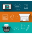 Blog design icons vector image vector image