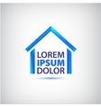 blue house icon logo isolated vector image