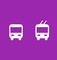 bus and trolleybus icons transport signs vector image vector image