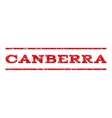 Canberra Watermark Stamp vector image vector image