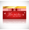 card ribbon vector image vector image