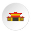 chinese temple icon circle vector image vector image