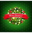 Christmas Composition With Red Ribbon vector image vector image