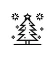 christmas pine tree with stars icon vector image