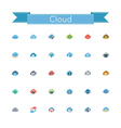 Cloud Flat Icons vector image vector image