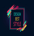 design best style rectangular bright border icon vector image