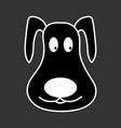 dog face black sign 1110 vector image vector image
