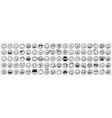 doodle various emoji set vector image