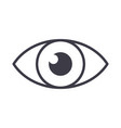 eye sign line icon sign on vector image