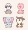 four cute animals