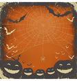 halloween background grunge frame vector image vector image