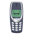 happy mobile phone vector image