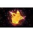 happy new year pig vector image