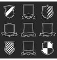 Heraldic Shield Emblem Set vector image vector image