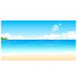 Idyllic Beach vector image vector image