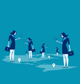 investor business people searching vector image vector image