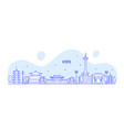 kyoto city skyline tamil nadu japan city vector image vector image