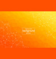 light orange background with dots and lines vector image