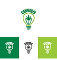 logo design for cannabis vector image vector image