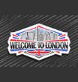 logo for london vector image vector image
