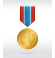 medal gold vector image vector image
