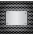 metal label grid background vector image vector image