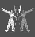 metal soldier vector image