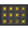 Modern computer processor icons vector image vector image