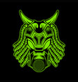 monster mask vector image vector image