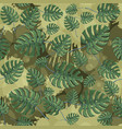 monstera plant leaves seamless pattern with vector image vector image