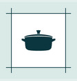 pan icon simple cooking vector image