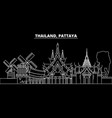 pattaya silhouette skyline thailand - pattaya vector image